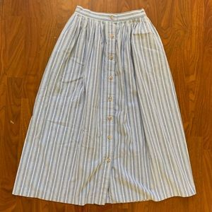 Vintage Hipster Indie Striped Maxi Skirt